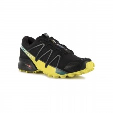 Salomon Zapatilla Speedcross 4 Black Everglade Negro Amarillo Hombre