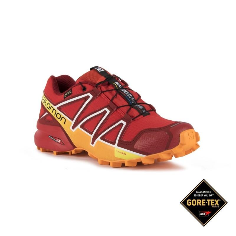 salomon speedcross 4 gtx fiery red 80
