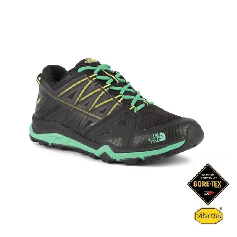 5598b7c6 The North Face Zapatilla Hedgehog Fastpack Lite II GTX Negro Verde Gore-tex  Mujer