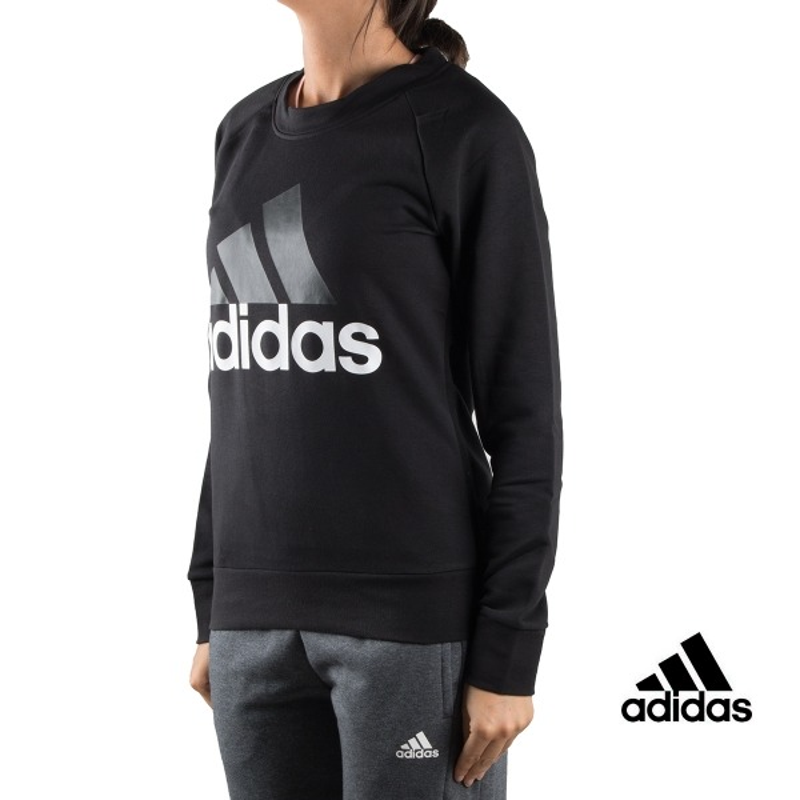 Adidas sudadera ESS Lin Sweat Negra mujer