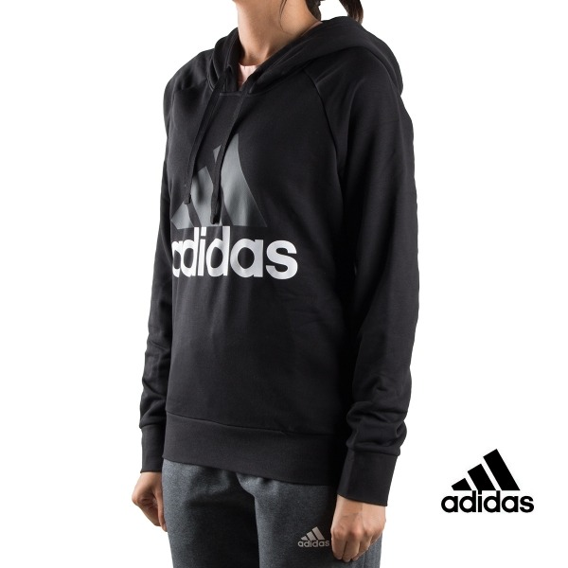 Adidas sudadera ESS Lin OH HD Negra mujer