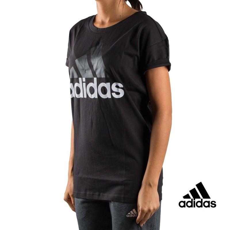 Adidas Camiseta Ess Lin Lo Tee Negra Mujer