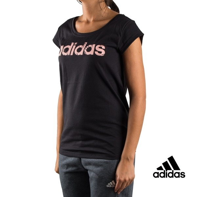 Adidas Camiseta W Com T Negra Mujer