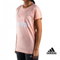 Adidas Camiseta Ess Lin Lo Tee Rosa Mujer