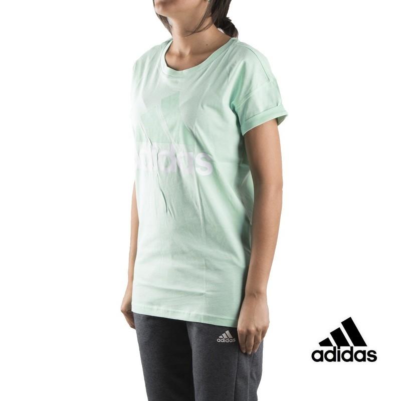 Adidas Camiseta Ess Lin Lo Tee Menta claro Mujer