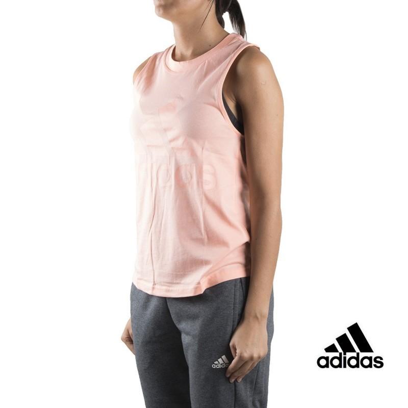 Adidas Camiseta tirantes Ess Soli SL Tee Coral neblina Mujer