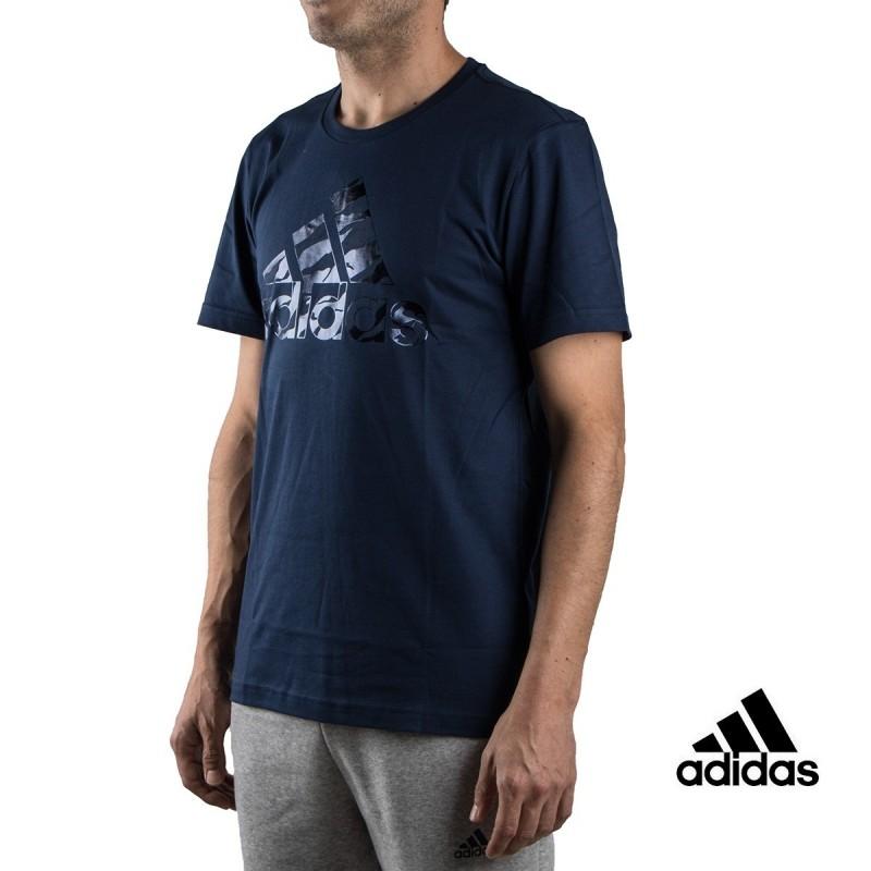 Adidas Camiseta Bos Foil Camo marino Mujer