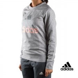 Adidas sudadera ESS Lin Sweat Gris mujer
