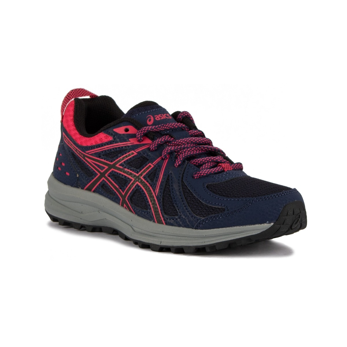 Asics Frequent Trail Peacoat Pixel Pink Azul Rosa Mujer