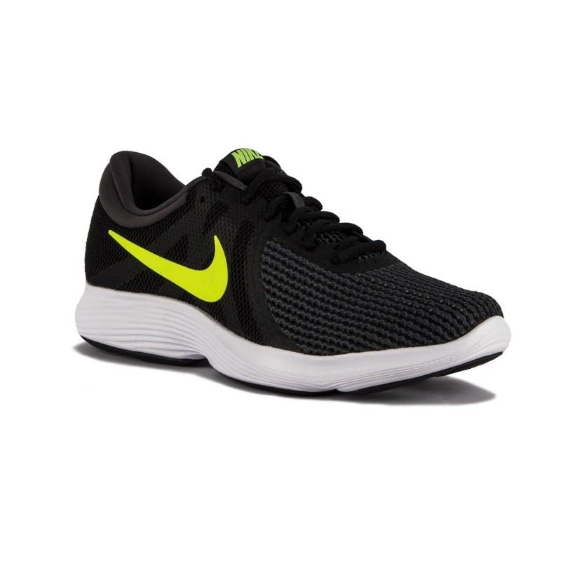 Nike Revolution 4 EU Black Volt Hombre