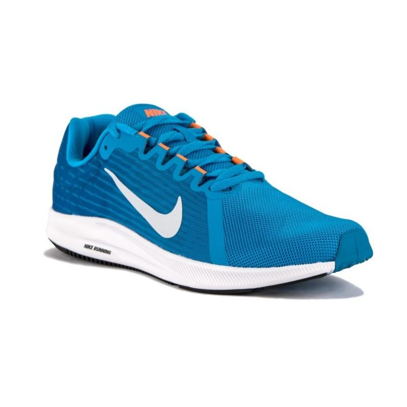 9f683f3ca74 Nike Zapatillas Downshifter 8 Blue Hero Azul Naranja Hombre