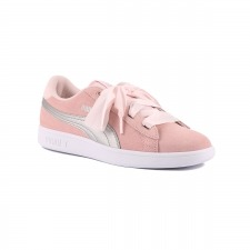 Puma Smash V2 Ribbon JR Perla plata Niño