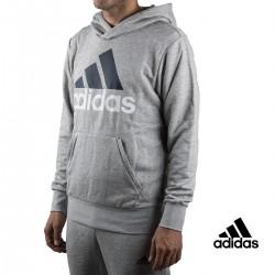 Adidas sudadera Ess Lin P/O FT Gris hombre