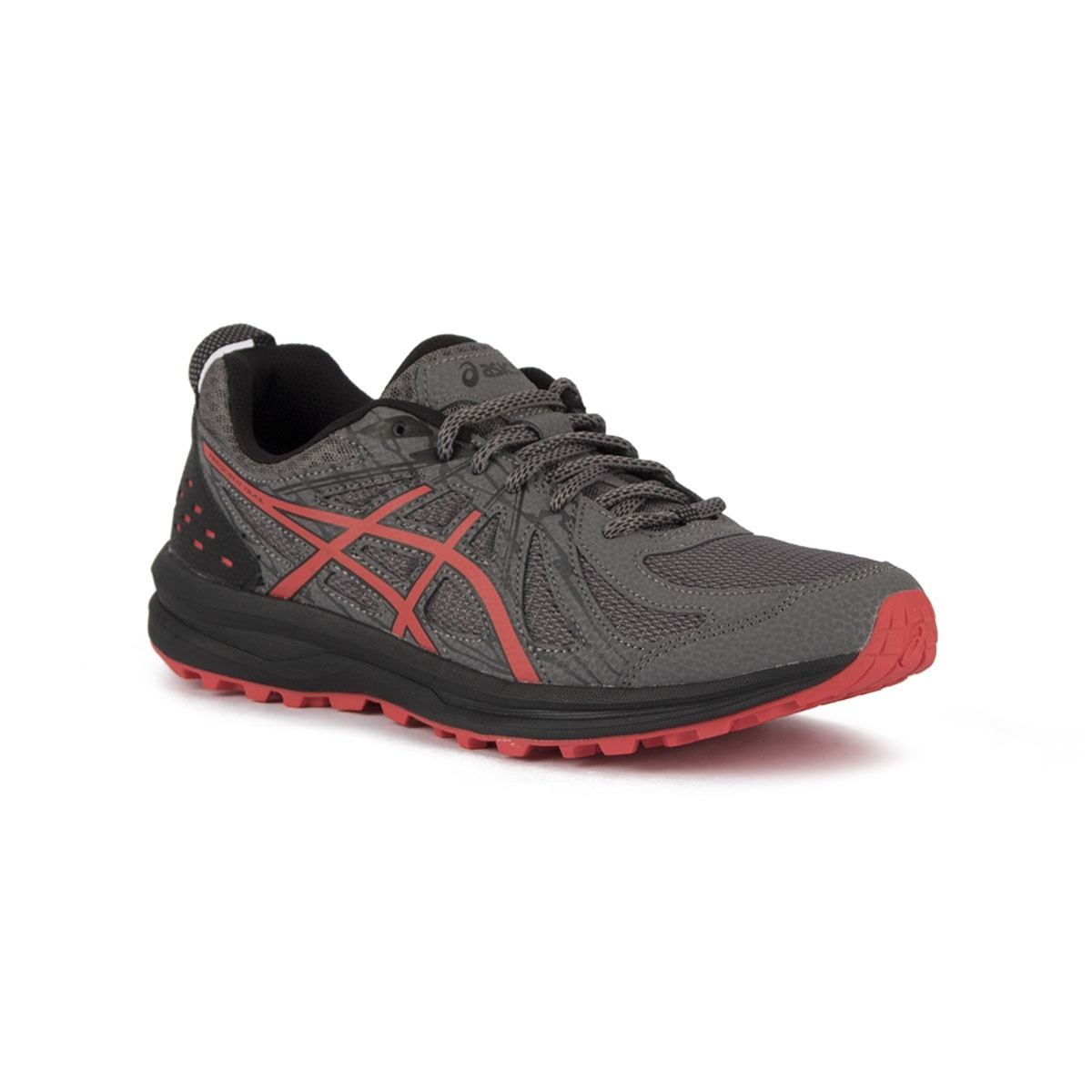 Asics Frequent Trail Carbon Red Alert Negro Rojo Hombre