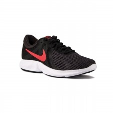 Nike Revolution 4 EU Black Red Oil Negro Rojo Hombre