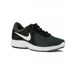 best service 6a55f fbd75 Nike Revolution 4 EU Black White Negro Gris Blanco Hombre