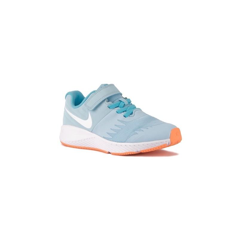 5dda7a451 Nike Star Runner PSV Cobalt Tint White Blue Celeste Naranja Niño