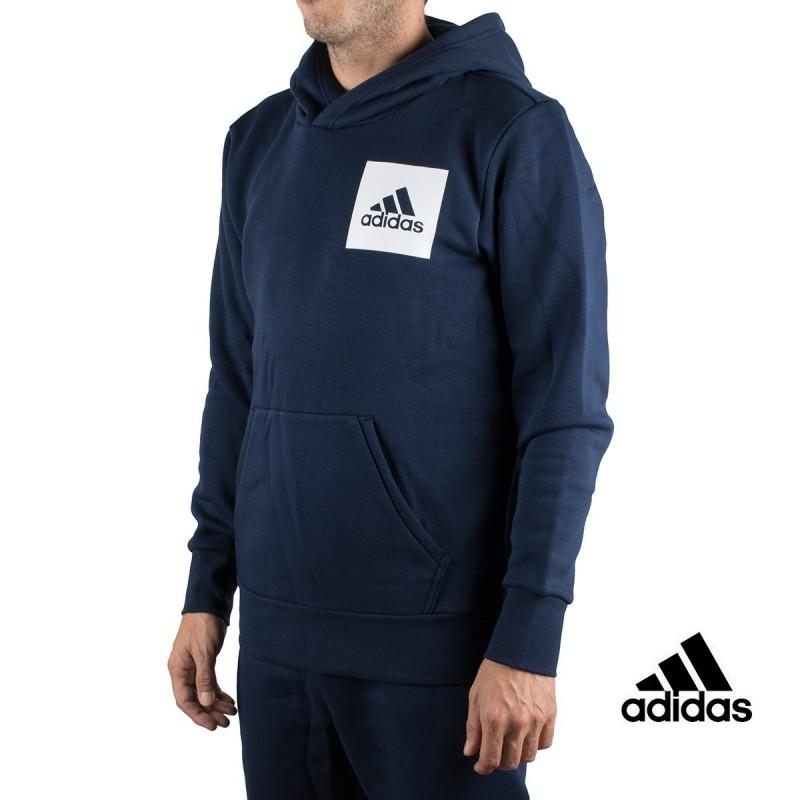 Adidas sudadera Ess Logo P/O FT B Marino hombre