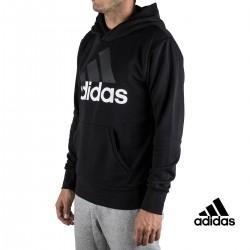 Adidas sudadera Ess Lin P/O FT B Negra hombre