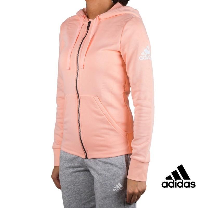 Adidas sudadera Ess Solid FZ HD Rosa palo mujer