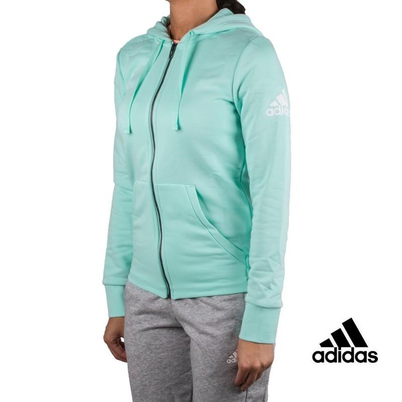Adidas sudadera Ess Solid FZ HD Turquesa mujer