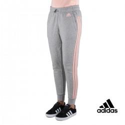 Adidas pantalón Ess 3S Tap Gris Rosa Mujer