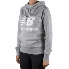 New Balance sudadera Essentials Pullover Hoodie Gris Mujer