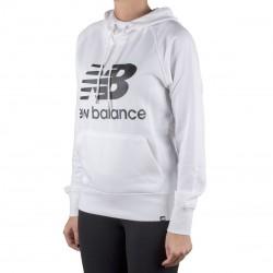 New Balance sudadera Essentials Pullover Hoodie Blanco Mujer