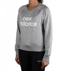 New Balance sudadera Essentials FT Crew Gris Mujer