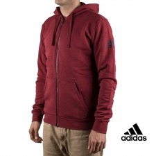 Adidas sudadera Essentials Base Fleece SLB Granate hombre