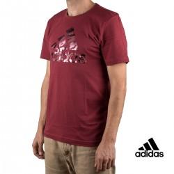 Adidas Camiseta Bos Foil Camo Granate Hombre