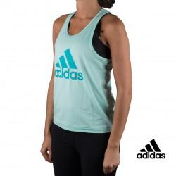 Adidas Camiseta tirantes D2M Logo Tank Menta Mujer