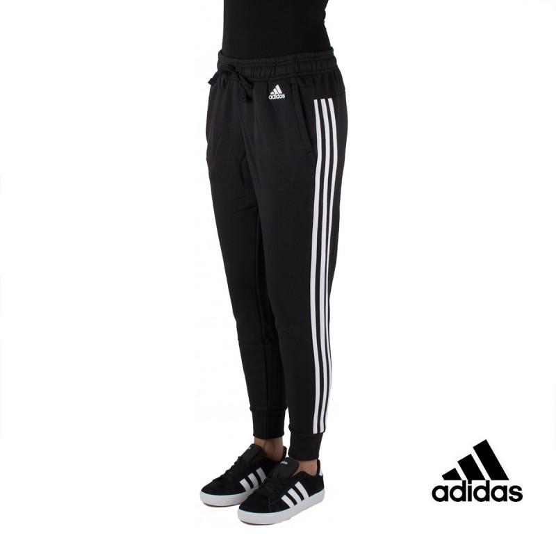 Adidas pantalón Ess 3S Tap Negro Blanco Mujer