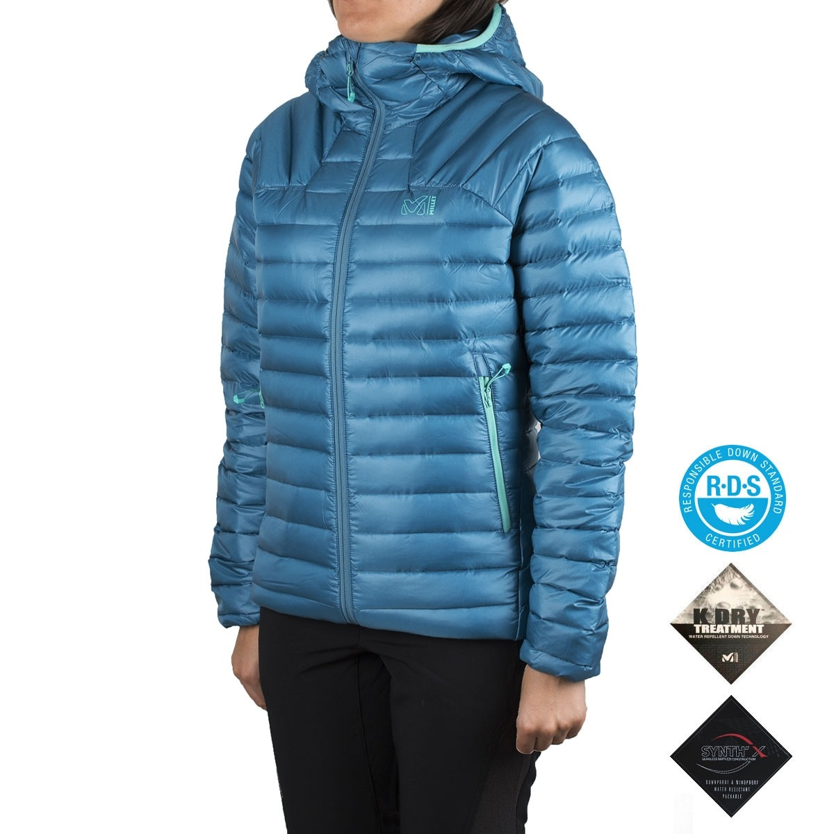 Millet Plumas K Synth´X Down Cosmic Blue Azul Menta Mujer