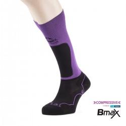 Lurbel Calcetines compresión Trail Plus W Black Purple Morado Negro Mujer