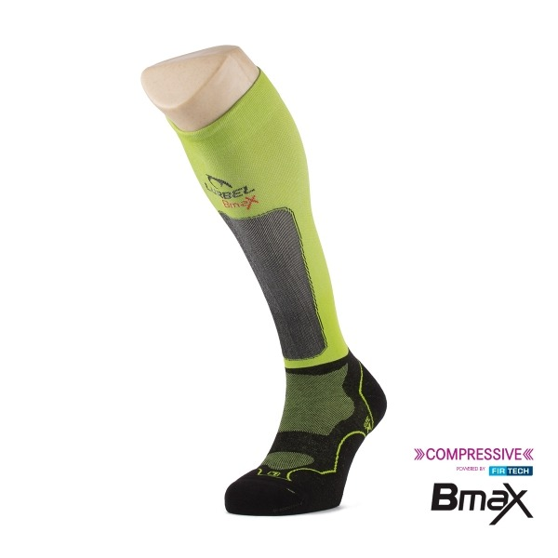 Lurbel Calcetines compresión Trail Plus Black Pistachio Negro Verde Unisex
