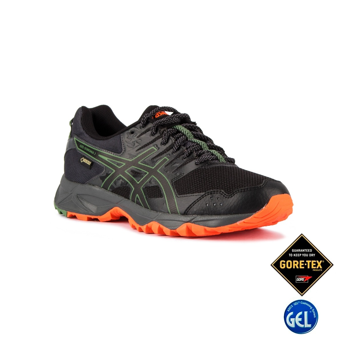 Asics Gel Sonoma 3 GTX Black Dark Grey Hombre
