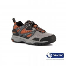 Hi-Tec Zapatilla Razor Low WP Charcoal Black Orange Gris Naranja Hombre