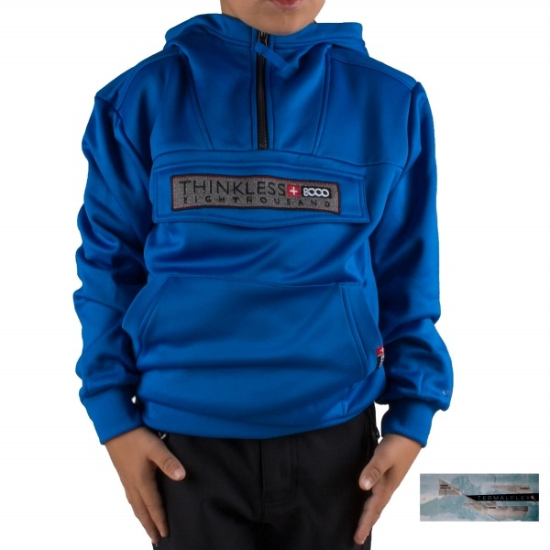 +8000 Sudadera Canguro Ibon J 18I Azul Real Niño