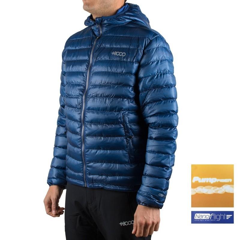 +8000 Chaqueta fibras Lipez 18I Azul Acero Estampado Hombre