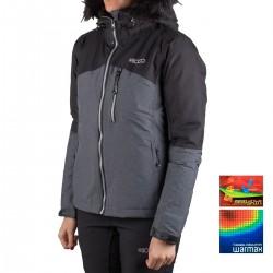 +8000 Chaqueta Argualas18I Negro Tejido Bicolor Mujer