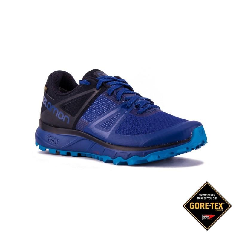 Salomon Zapatilla Trailster GTX Mazarine Blue Navy Blazer Azul Hombre