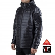Columbia Plumas Titan Ridge Down Hooded Negro Hombre