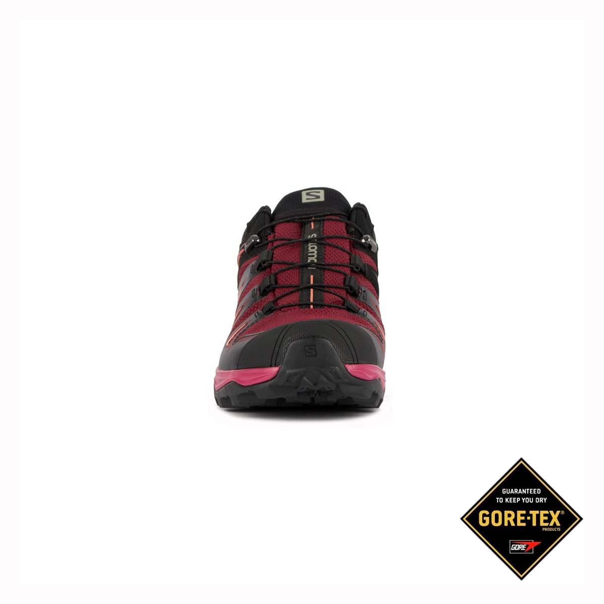 Salomon Zapatilla trailrunning X Ultra 3 GTX Tawny Port Negro Granate Goretex Mujer