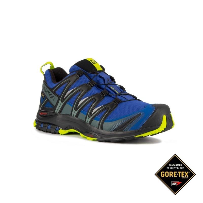 Salomon Zapatilla trailrunning XA PRO 3D GTX Mazarine Blue Azul Hombre