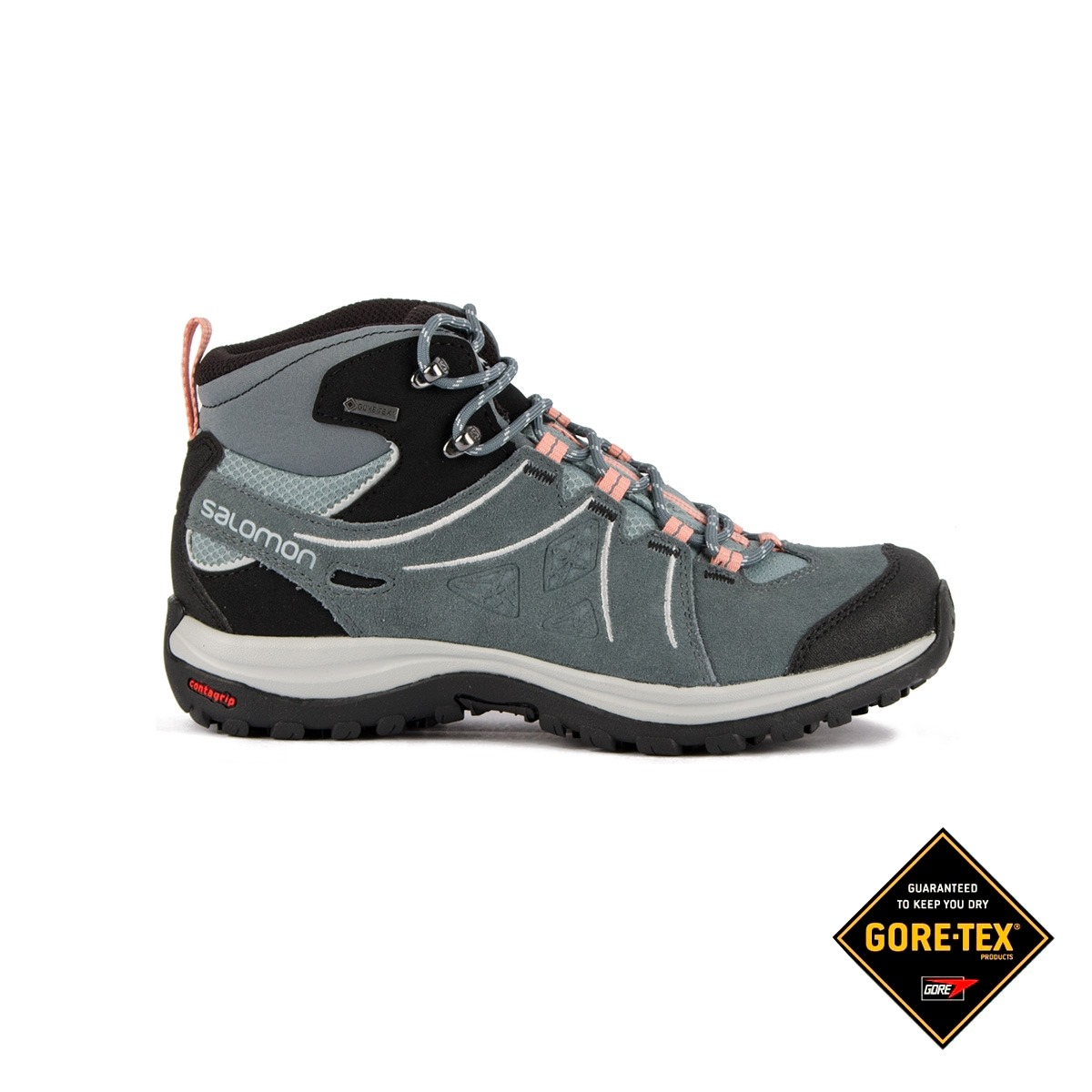 Salomon Bota Ellipse 2 MID LTR GTX W Lead Stormy Weather Gris Mujer