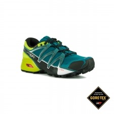 Salomon Zapatilla Speedcross Vario 2 GTX Deep Lagoon Black Lime Green Hombre