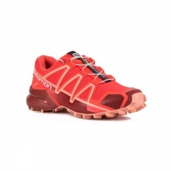 Salomon Zapatilla Speedcross 4 Hibiscus Red Dalhia Coral Mujer