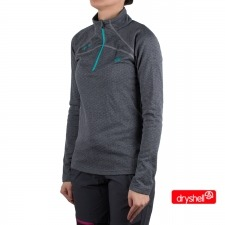 Ternua Pull Lucilla 1/2 Zip C Gris Mujer