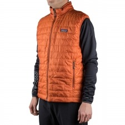 Patagonia Chaleco Fibras Nano Puff Vest Primaloft Cooper Ore Naranja Hombre
